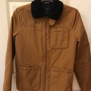 Crewcuts size 14 tan zip up jacket